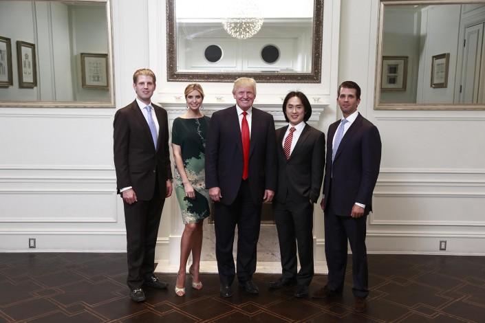 Joo Kim Tiah and Donald Trump announce the new $360-million Trump International Hotel & Tower Vancouver